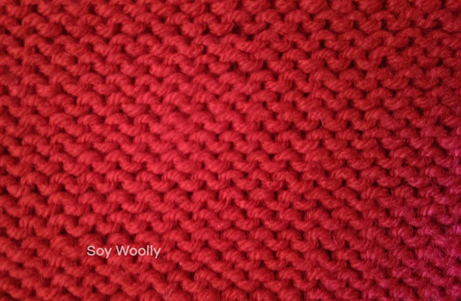 Como tejer punto jersey en dos agujas palillos tricot paso - Como hacer un jersey de punto ...