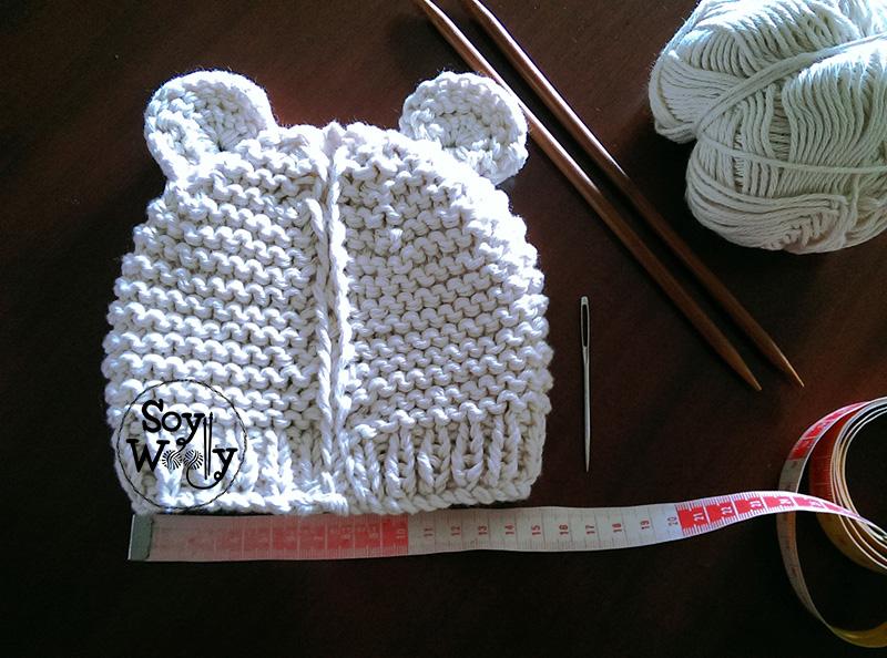 Cómo tejer un gorro de bebé fácil con dos agujas/palitos | Soy Woolly