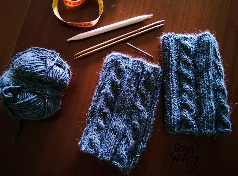 Como tejer calentadores boot cuffs o polainas con dos - Puntos para tejer lana ...
