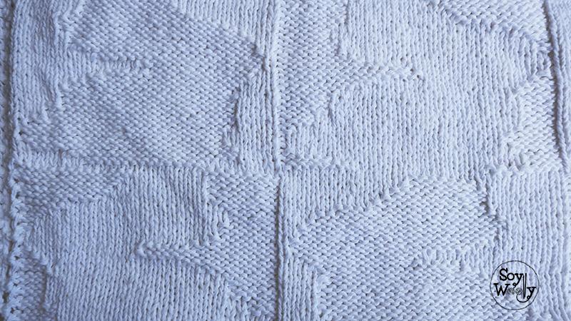 Manta/Cobija de bebé reversible tejida en dos agujas | Soy Woolly