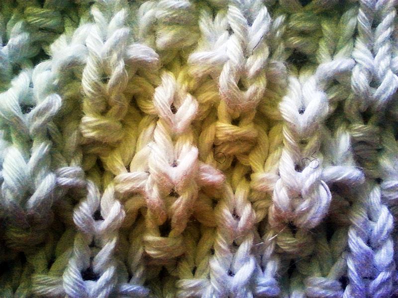 El punto de algodón muy de cerca