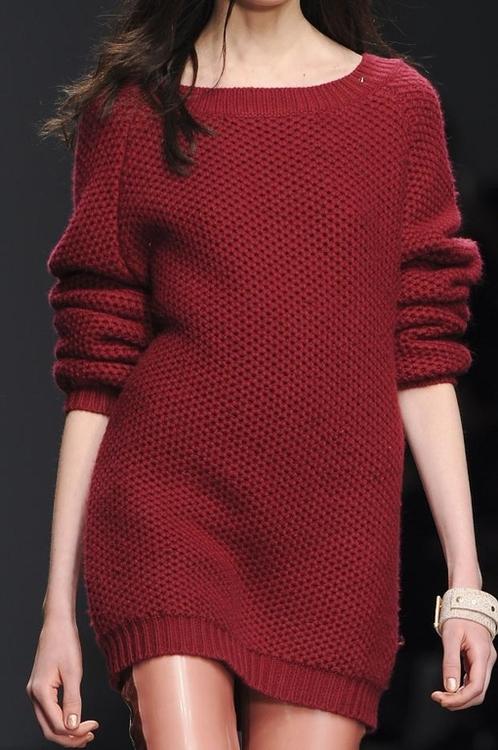 Maxi sweater pero femenino