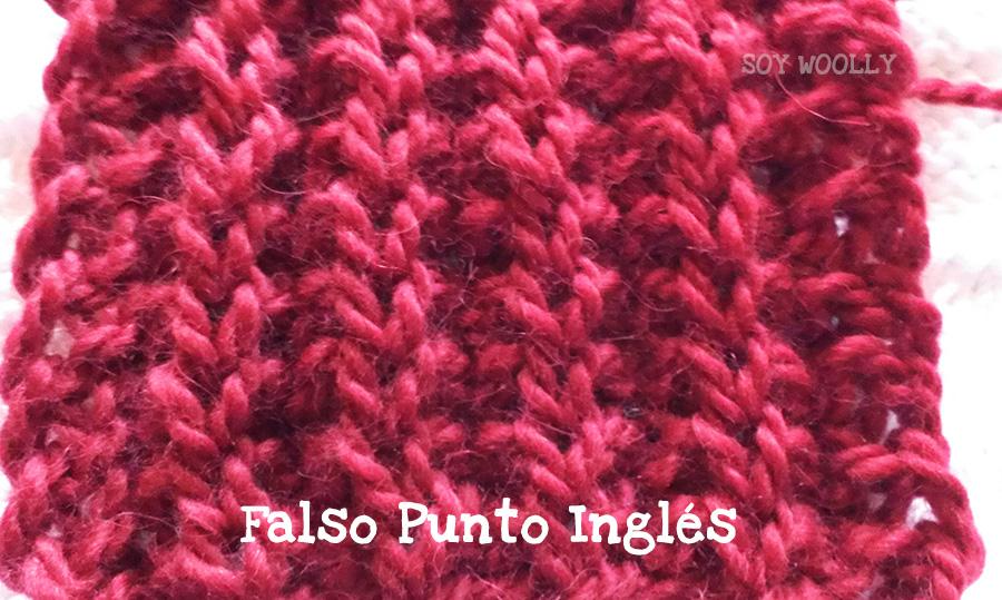 Falso Punto Inglés: segunda variante. Soy Woolly