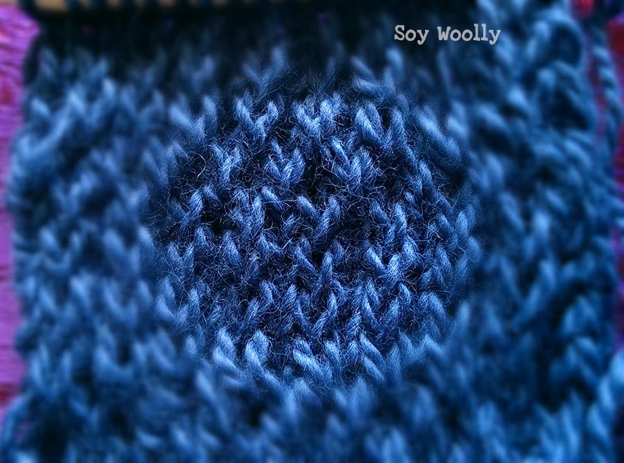 Detalle del Punto Liso Retorcido/Ojo de Perdiz.Soy Woolly