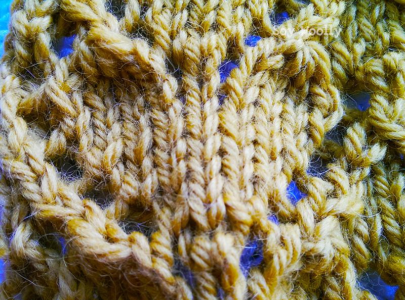 Detalle del Punto Calado de Corazones-Soy Woolly