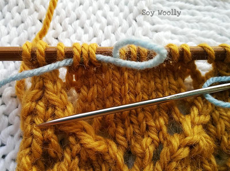 Como corregir errores al tejer: la vuelta viva. Soy Woolly