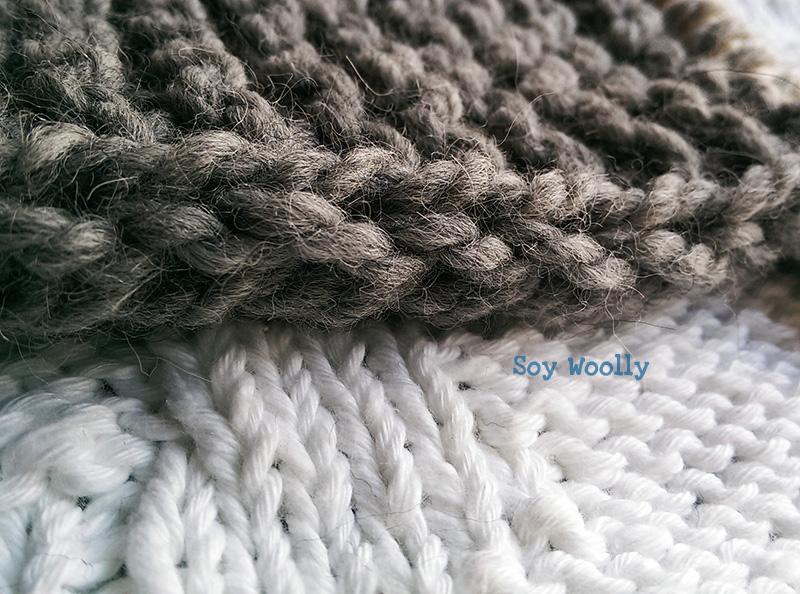 Borde de cordón por el derecho y por el revés-Soy Woolly