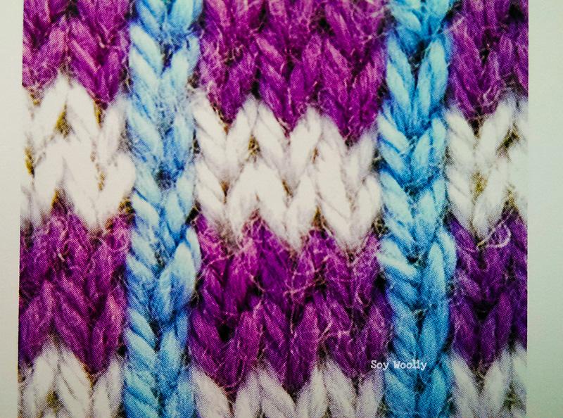 Cómo tejer rayas horizontales y verticales en varios colores-Soy Woolly