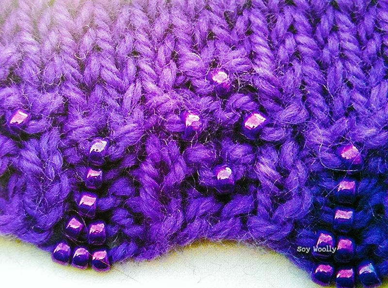 Otra forma de tejer con cuentas en los bordes-Soy Woolly