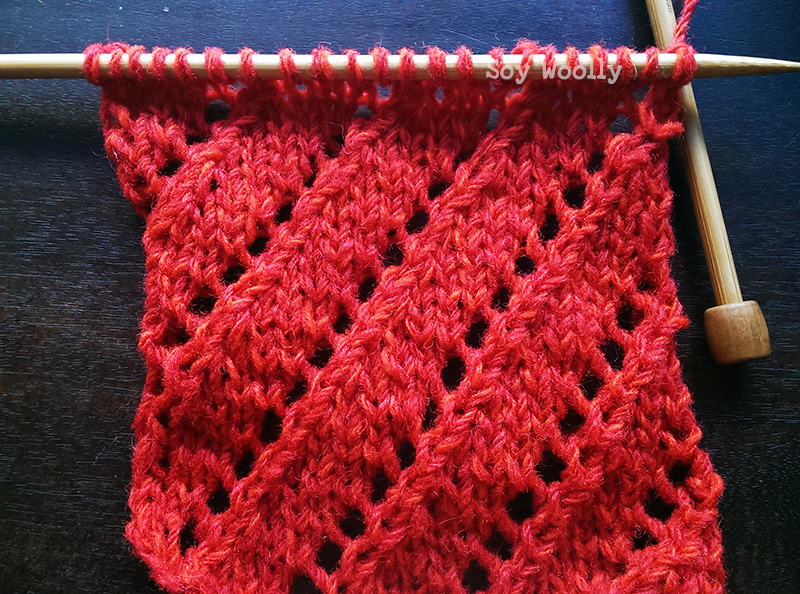 Punto de Encaje Diagonal-Soy Woolly