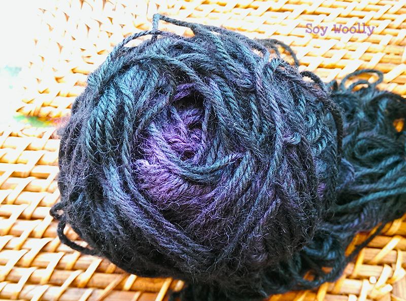 Técnica de la tarta para teñir tu propia lana en casa: efecto ombré