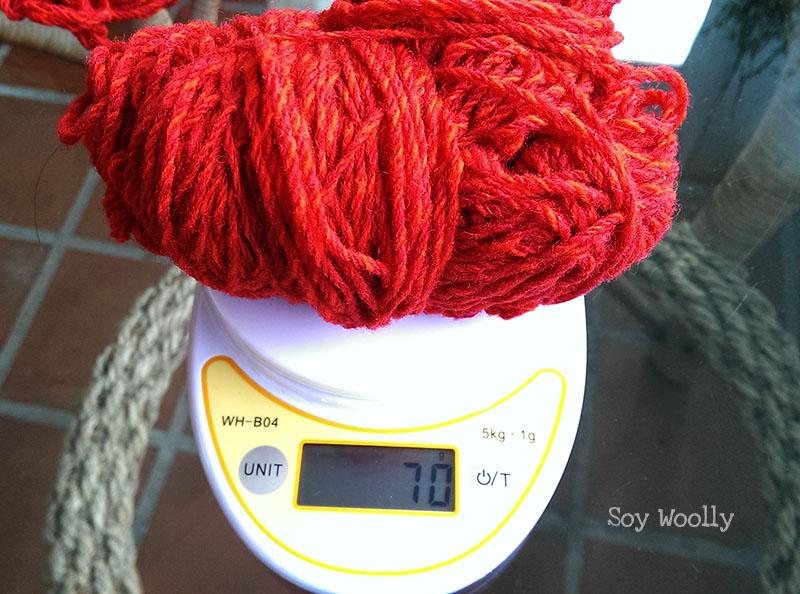 Como calcular la lana en metros y gramos-Soy Woolly