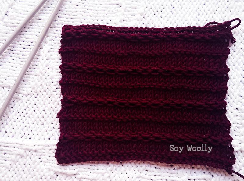 Como tejer cadenas eslabones horizontales sin aguja auxiliar-Soy Woolly