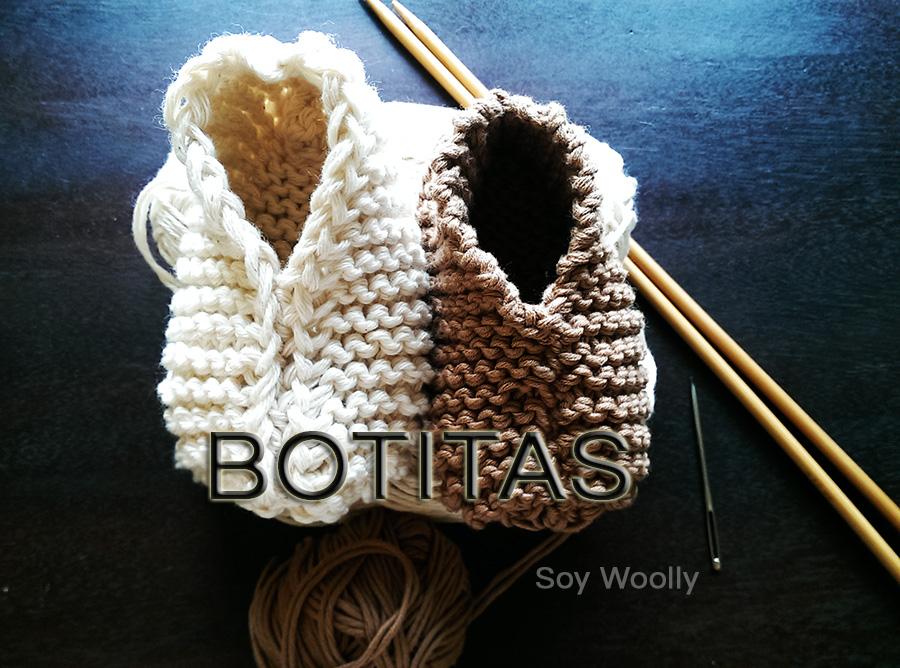 Teje botitas, patucos, zapaticos, escarpines...el patrón más fácil y ...