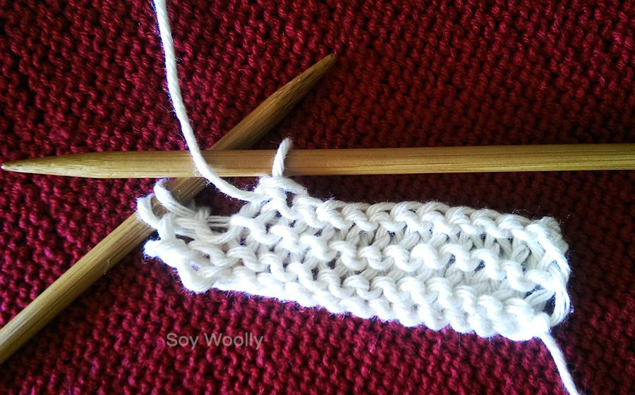 Cerrar punto del reves curso express tejer palillos-Soy Woolly