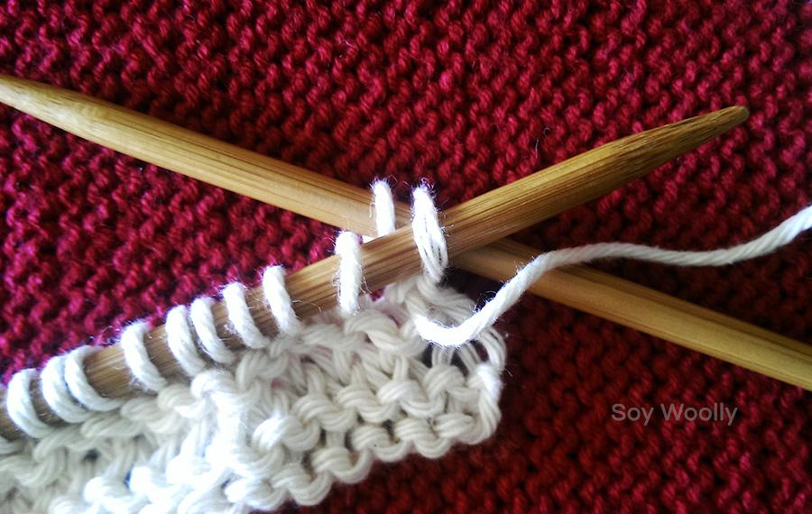 Como cerrar puntos del reves: curso express para tejer con dos agujas, palitos, tricot-Soy Woolly