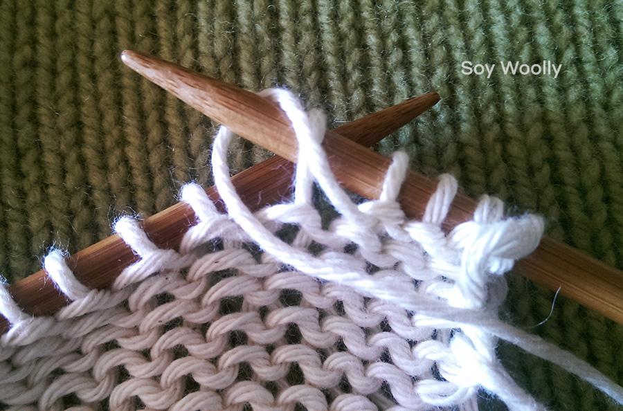 Como tejer el punto jersey-Soy Woolly