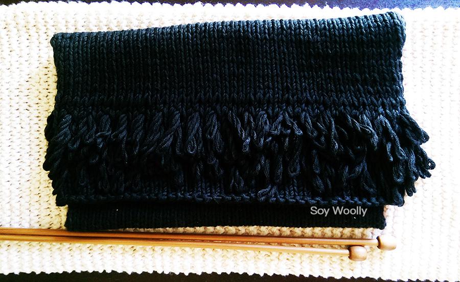 Como tejer bolso sobre clutch dos agujas-punto-tricot o palitos-Soy Woolly