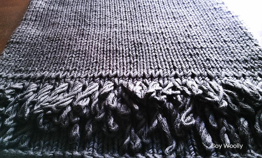 Como tejer punto bucle dos agujas o palitos-Soy Woolly
