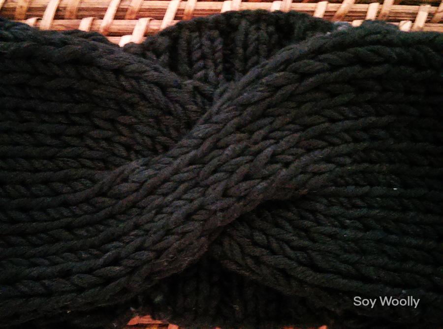 Cómo tejer un turbante, diadema, cinta con dos agujas o palillos ...