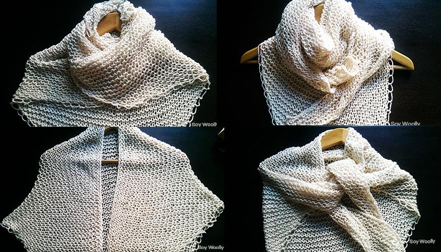 Formas de usar tu chal-Soy Woolly