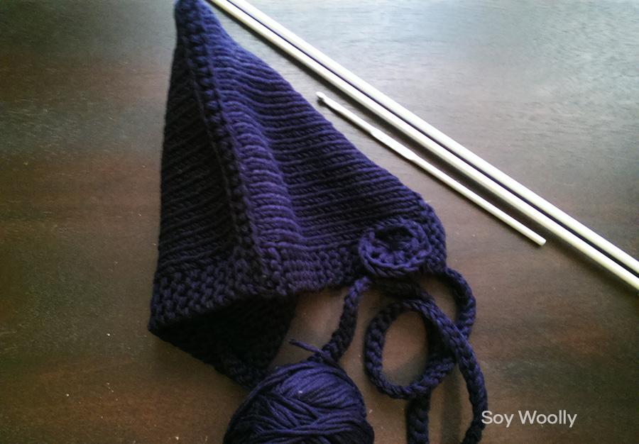 Cómo tejer una capota o capucha con dos agujas o palillos Soy Woolly