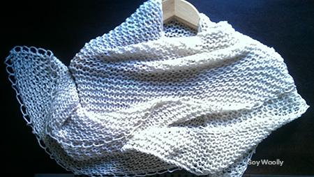 Tejer un chal triangular dos agujas-Formas de usar un chal-Soy Woolly