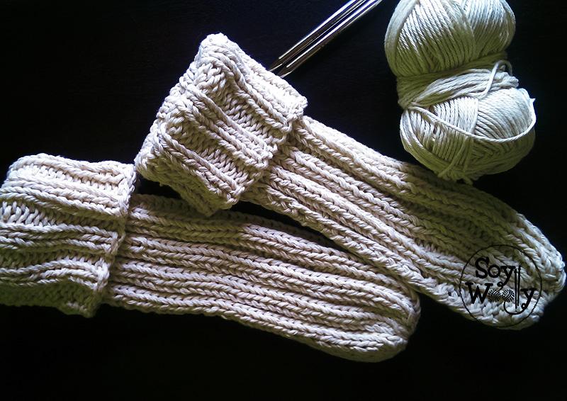 Tejer calcetines faciles dos agujas palitos tricot calceta