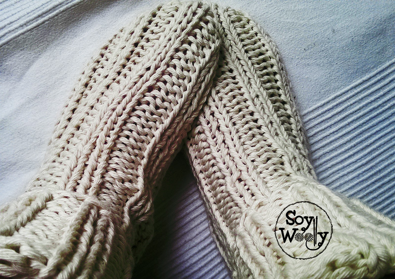 Tutorial tejer calcetines faciles dos agujas-Soy Woolly