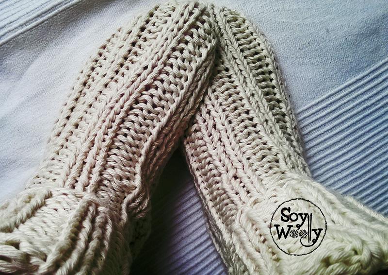 Teje los Calcetines más fáciles que hay con dos agujas | Soy Woolly