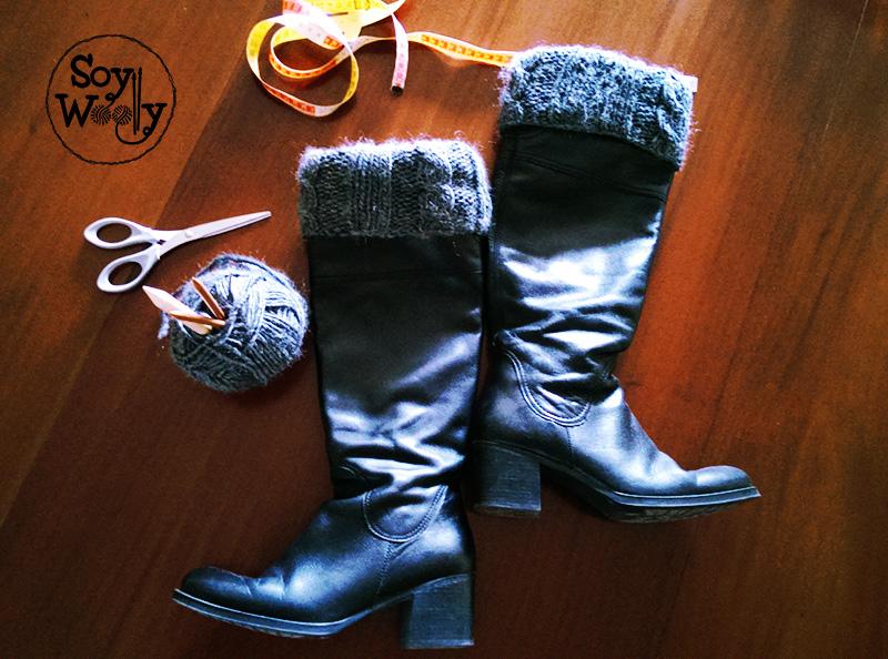 Como tejer calentadores, boot cuffs o polainas con dos agujas | Soy ...