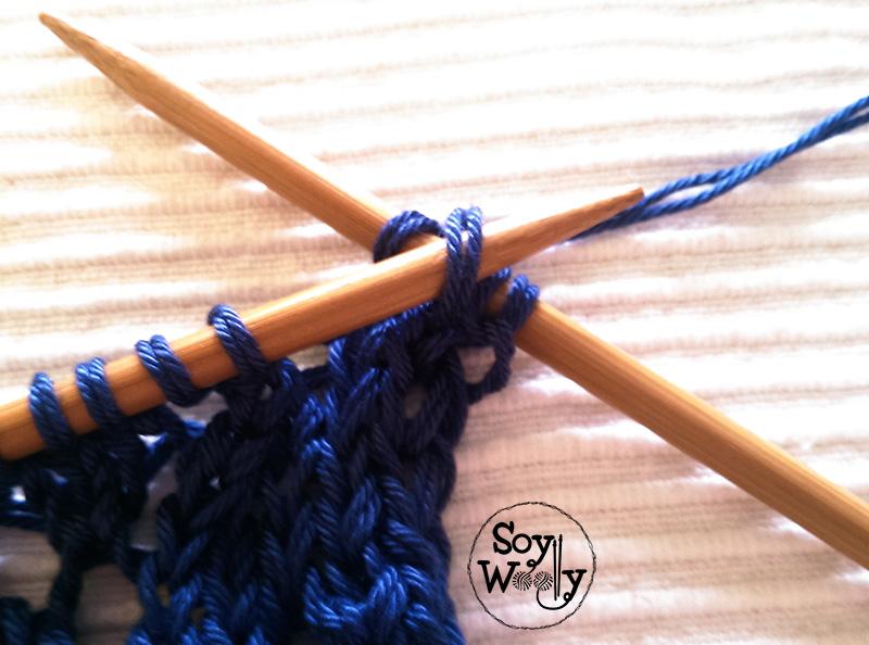 Menguar puntos tejer dos agujas-Soy Woolly