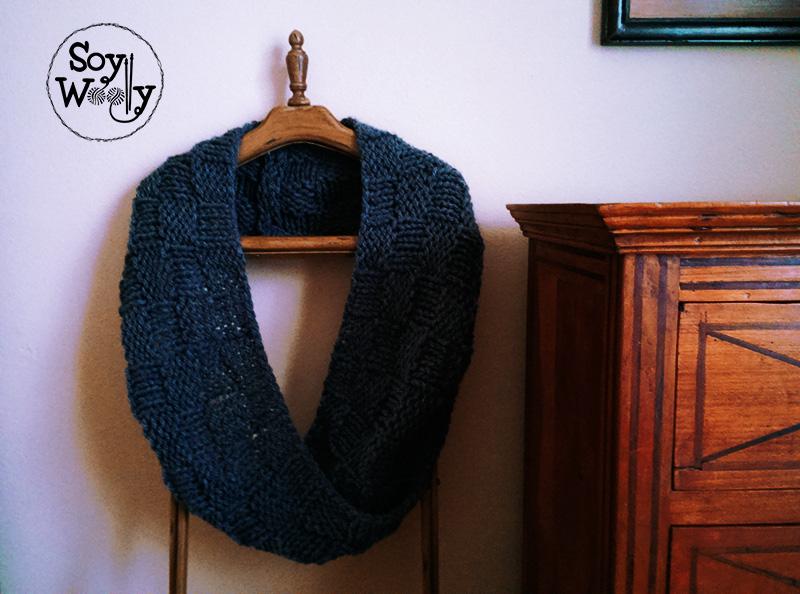 Patron de cuello facil tejido con palitos tricot