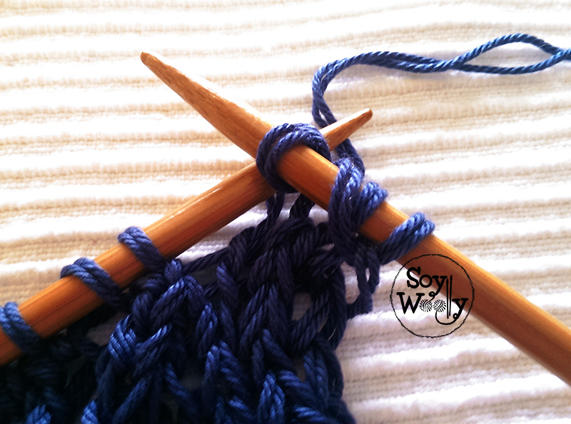 Surjete sencillo dos agujas palitos-Soy Woolly