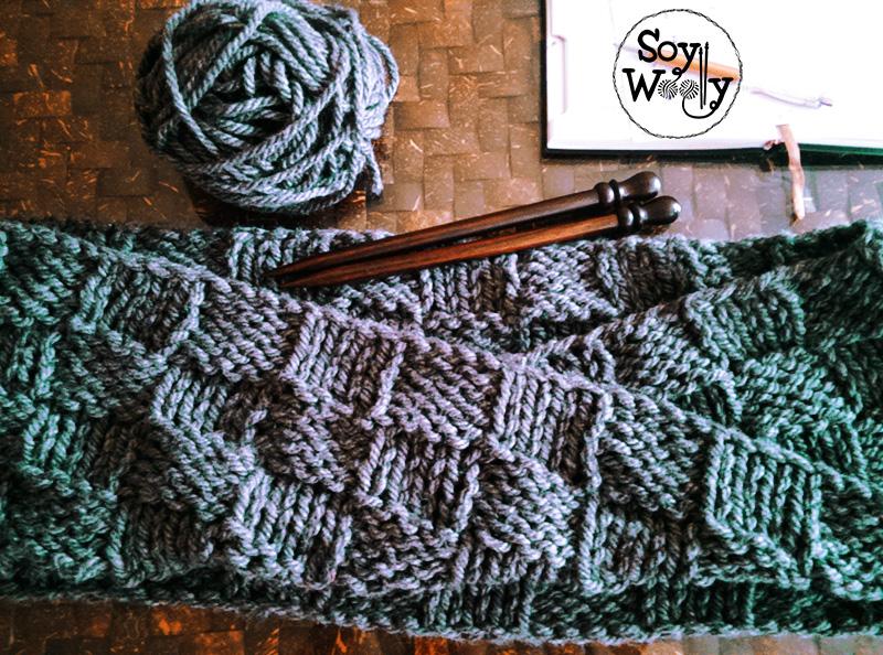 Tejer cuello facil para principiantes dos agujas o palillos-Soy Woolly