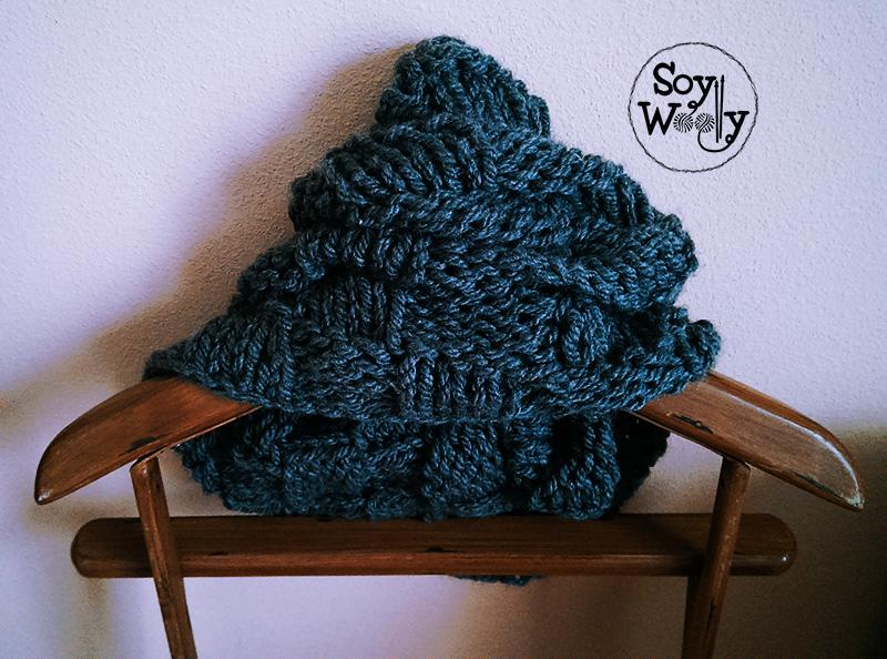 Tejer un cuello sin agujas circulares-Soy Woolly