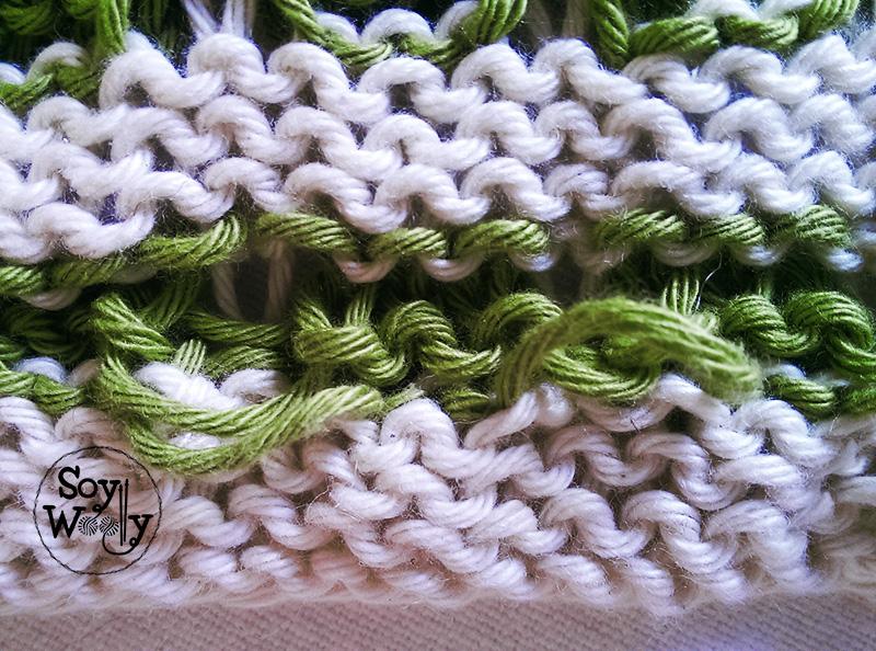 Como hacer punto en varios colores-Soy Woolly
