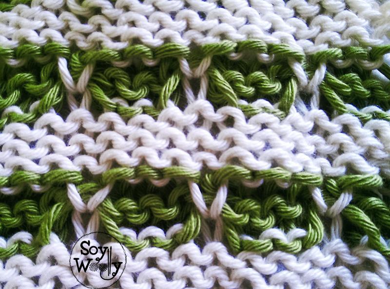 Punto Dos Colores tejido en tricot-Soy Woolly