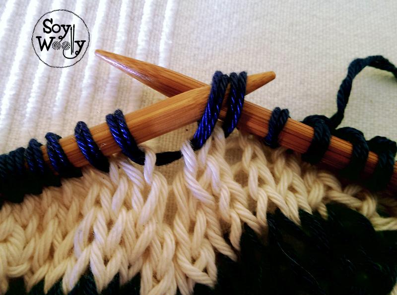 Tutorial tejer picos de punto tricot calceta