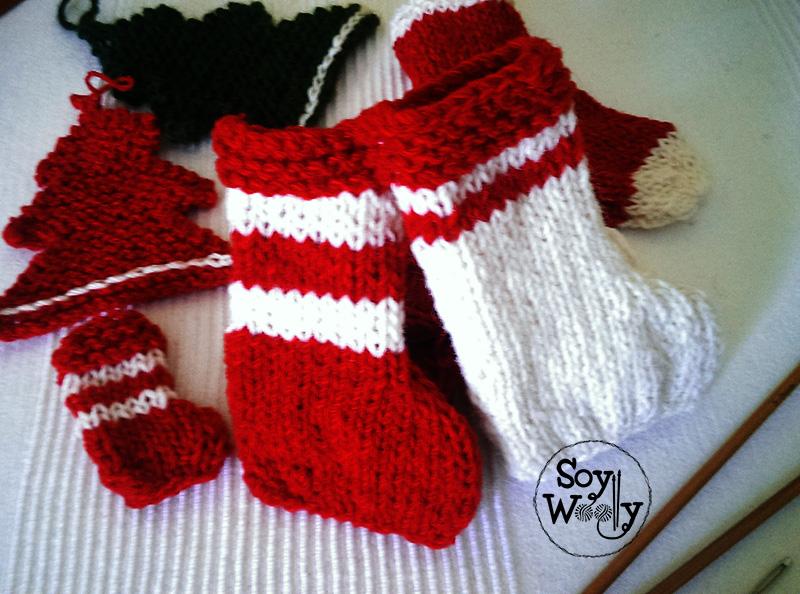 Adornos navidad diy tejidos-Soy Woolly