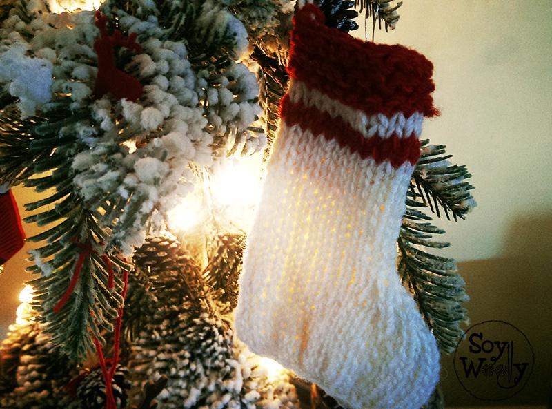 Botas de navidad de punto dos agujas-Soy Woolly