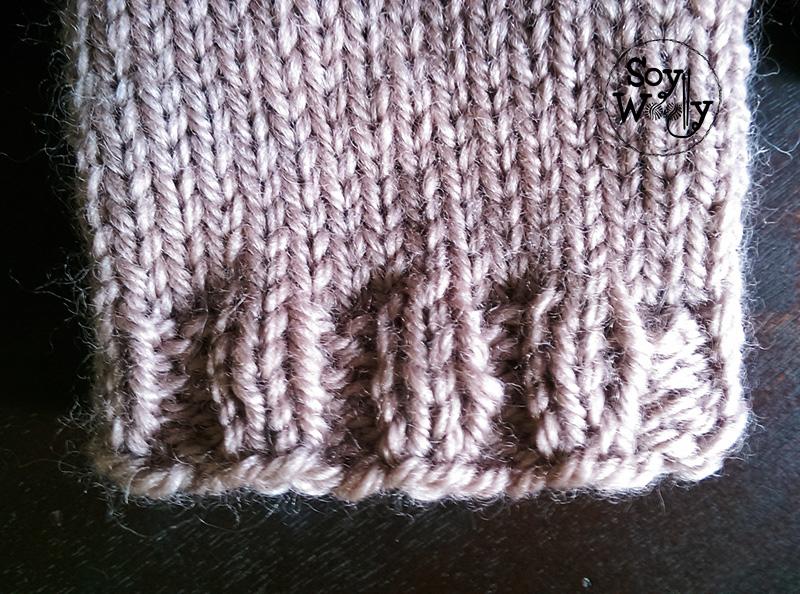 Como tejer guantes sin dedos con dos agujas-Soy Woolly