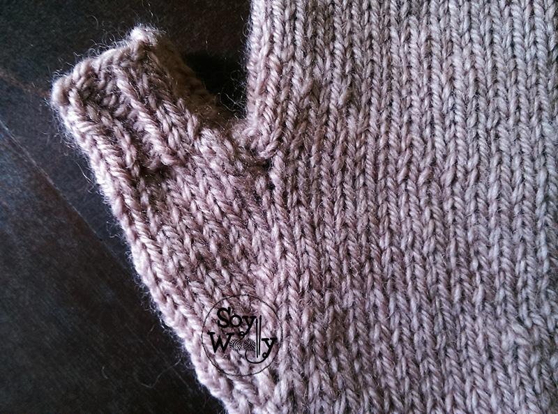 Cómo tejer Guantes sin Dedos con dos agujas/palillos | Soy Woolly