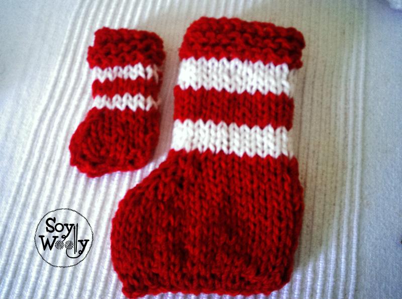 Tejer botitas para arbol de navidad-Soy Woolly