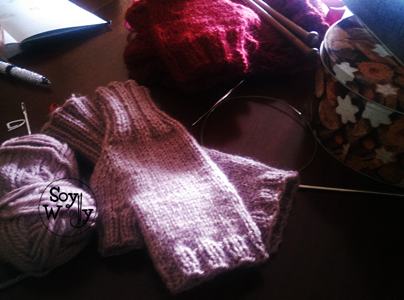 Tutorial para tejer guantes sin dedos-Soy Woolly