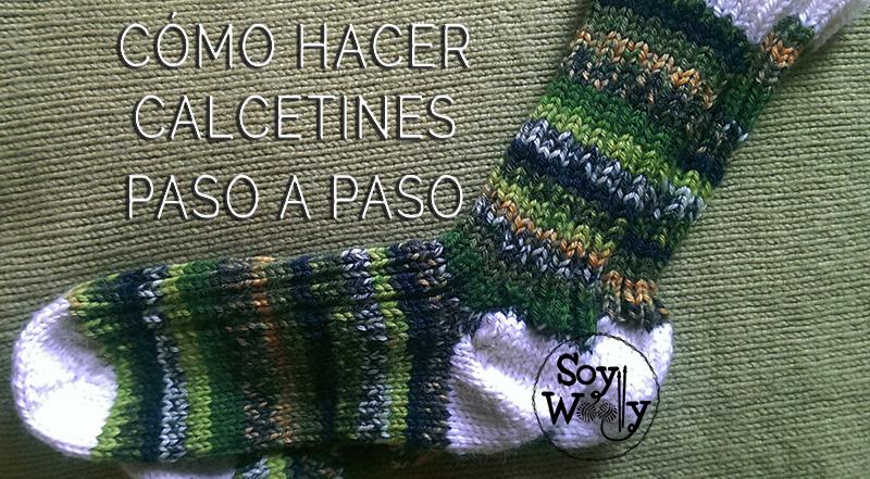 C mo hacer calcetines o medias de punto paso a paso soy - Como hacer punto de lana paso a paso ...