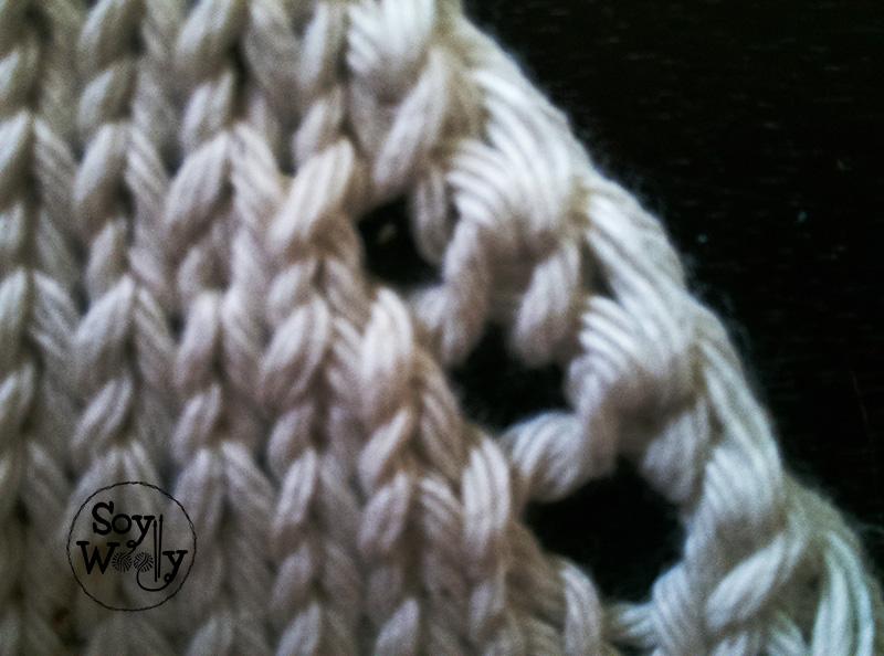 Disminuciones inclinadas en punto-Soy Woolly