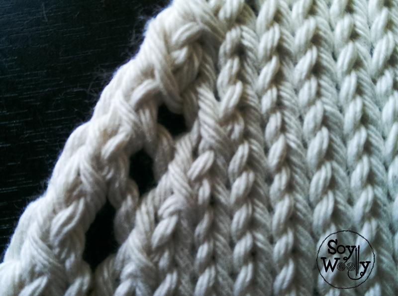 Menguados o disminuciones decorativos de puntos-Soy Woolly