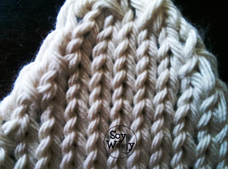 Surjete sencillo dos agujas punto palillos-Soy Woolly