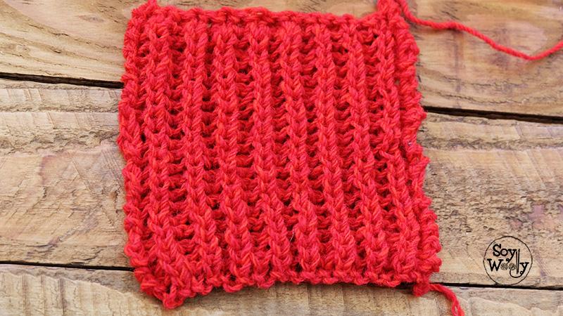 Punto Ingles facil dos agujas tricot calceta palillos palitos-Soy Woolly